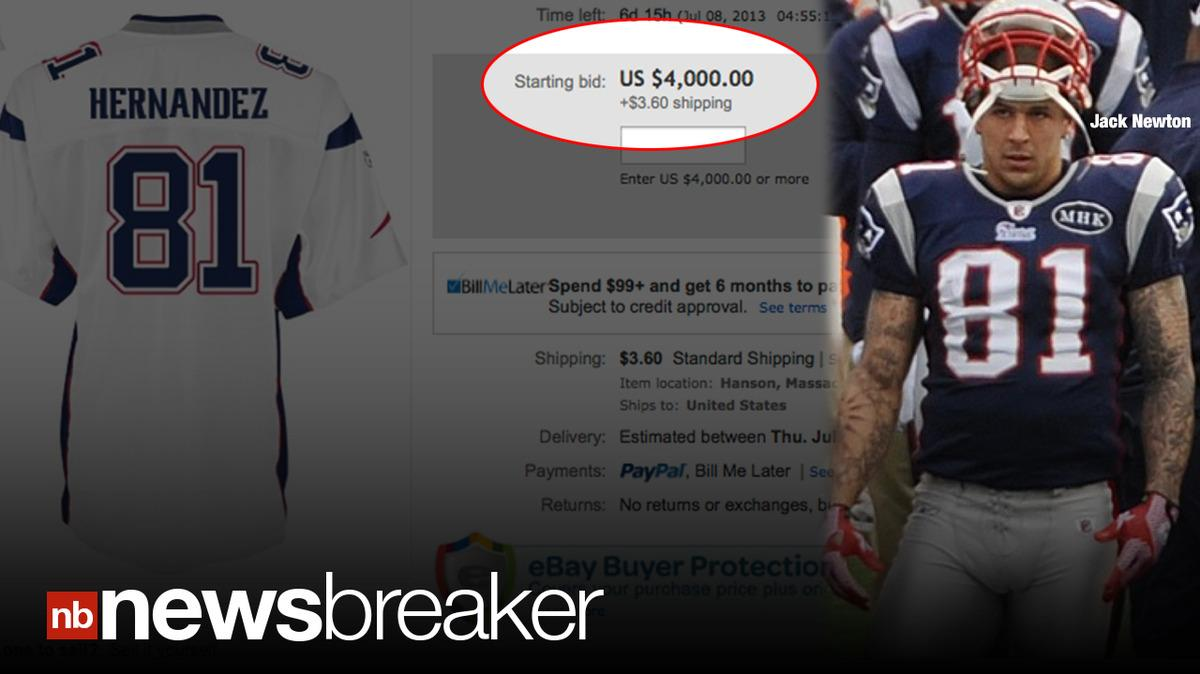 KILLER PRICE  NFL Jersey of Accused Killer Aaron Hernandez Selling for  Thousands on E-Bay 25208228a