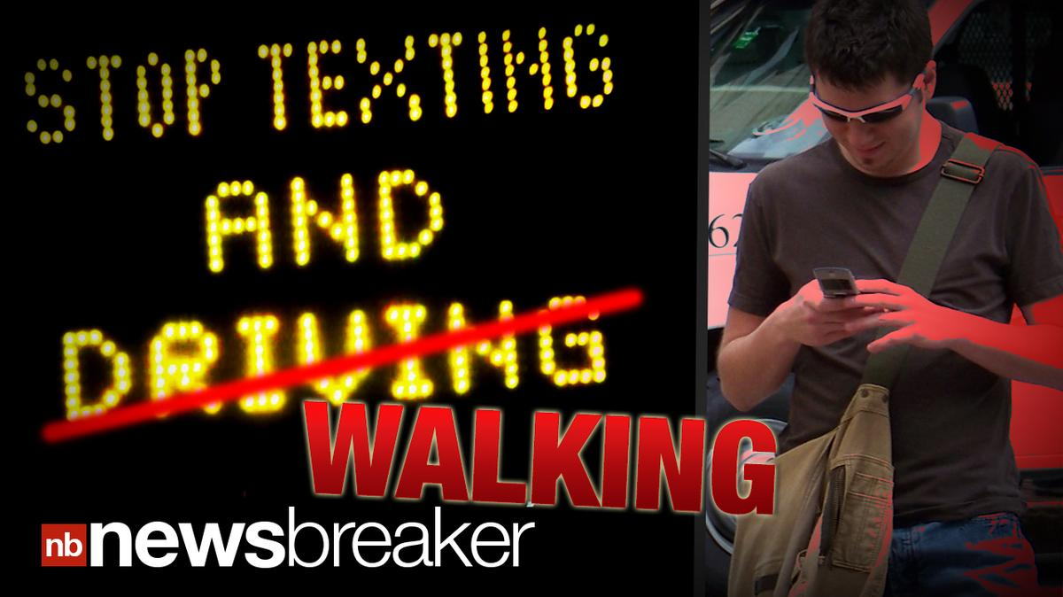Texting While Driving >> NO TEXTING AND WALKING: Study Reveals Cell Phones Distract ...