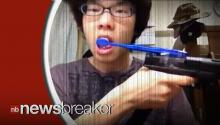 VIRAL VIDEO OF THE DAY: Man Brushes His Teeth with a GUN