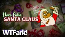 HERE PUFFS SANTA CLAUS: Pot Shop's Santa-Smoking-A-Joint Window Display Angers Community