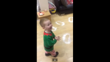 Meanwhile in Scotland, A Young Boy Finds Santa's Footprints And Melts Our Hearts