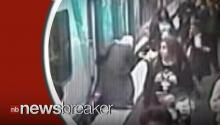 Toddler Caught on Tape Surviving Fall in Gap Between Platform and Train