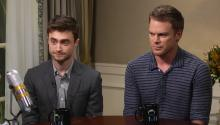 Daniel Radcliffe and Michael C. Hall discuss Kill Your Darlings