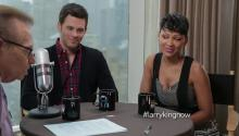Meagan Good and James Marsden talk about Anchorman2