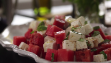 Sweet & Salty Watermelon Feta Salad Recipe