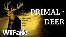 PRIMAL DEER: Deer Attacked Humans 3 Times This Weekend. Be Afraid. Be Deerly Afraid.