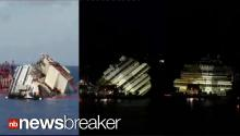 TIME-LAPSE: Video Shows Costa Concordia Lifted Upright After 19 Hour Mission