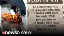 9/11 BACKLASH: Golf Course Apologizes After Trying to Bank off Tragedy