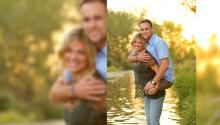 Photo of Double Amputee Marine Given Piggy Back Ride by Wife Goes Viral
