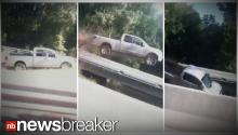 Woman Captures Truck Flying Into Ditch on Vine Video
