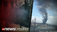 BREAKING: Big Rig Fire Shuts Down Part of NY's Queensboro Bridge