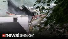 BREAKING: Plane Crashes into 2 Homes, 2 Children Missing