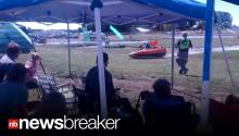 CAUGHT ON TAPE: Racing Boat Loses Control; Crashes into Crowd of Spectators