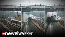 CAUGHT ON TAPE: Terror As A Train In Spain Derails Killing 80+