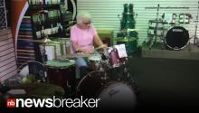 GROOVIN' GRANNY: Mystery Woman Impresses Pro Drummers