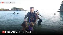 SCUBA SURPRISE: Soldier Shocks Family With Underwater Early Homecoming (CAUGHT ON TAPE)
