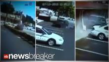 OUT OF CONTROL: SUV Going 100 Crashes Into Motel; Pins Pregnant Woman (CAUGHT ON TAPE)