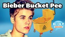 Justin Bieber Pees in a Restaurant Kitchen Mop Bucket