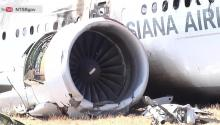 RAW VIDEO: Dramatic Close Up Footage of Plane Crash Aftermath at SFO