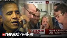 RAW VIDEO: Pres. Obama Calls to Congratulate Kris Perry and Sandy Stier