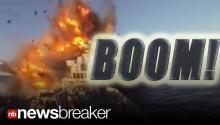 BOOM!: Norwegian Navy Blows Up Own Ship (CAUGHT ON TAPE)