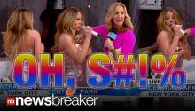 OH, S#*!: Diva Mariah Carey's Swears as Drops Pops Open on Live TV