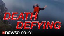 DEATH DEFYING: Base Jumper's Near Death Fall Caught on Tape