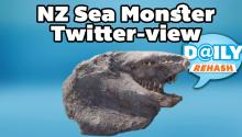 New Zealand Sea Monster Takes Twitter by the Tail!