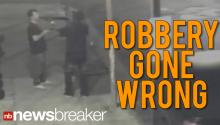 CAUGHT ON CAMERA: Victim Snatches Shotgun From Would-Be Robber
