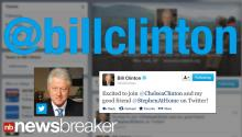 NEW: President Clinton Joins Twitter For Real This Time