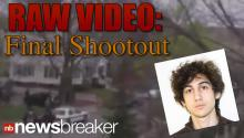 RAW VIDEO: Final Shootout Between Police and Boston Bombing Suspect Before