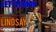 Letterman Grills Lohan To Tears