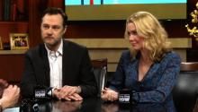 The Walking Dead: David Morrissey and Laurie Holden