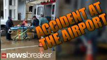 BREAKING:300 lb Airport Screen Falls On 4 Kids; Serious Injuries Reported