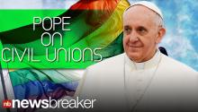 Pope Francis Once Supported Civil Unions