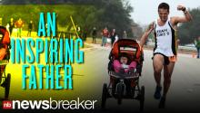 Terminally Ill Dad Wins Marathon Pushing Daughter