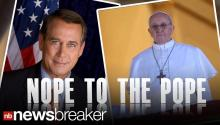 Boehner Declines White House Invite To Pope Installation