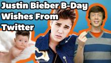 Twitter BDay Wishes for Justin Bieber From Around the World