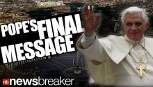 Pope's Last Message To His Final Audience