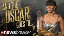 First Lady Presents Oscar; Twitter Freaks