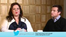 Actress Melissa McCarthy and Actor Jason Batemen Answer Social Media Questions