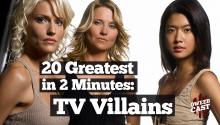 20 Greatest TV Villains in 2 Minutes!
