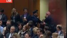 Protester Screams In US Senate Hearing