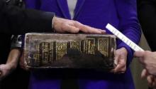 VP Biden Sworn In On Giant Bible