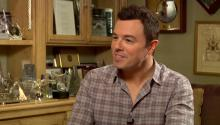 Seth MacFarlane impersonates Larry King