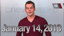 Newsbreaker Headlines for Monday Jan 14, 2013