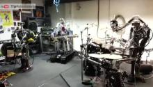 Robot Band Plays New Kind of Heavy Metal