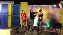 T.V. Host Lights Magician's Head On Fire