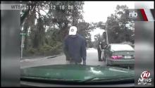 CAUGHT ON TAPE: Man Urinates on Cop Car
