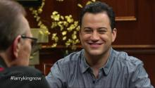 Jimmy Kimmel tells Larry King about disdain for Jay Leno, his live late night show, & David Letterman